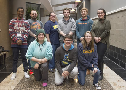 Group photo of the 2017-18 Schoolcraft Connection Editorial Staff