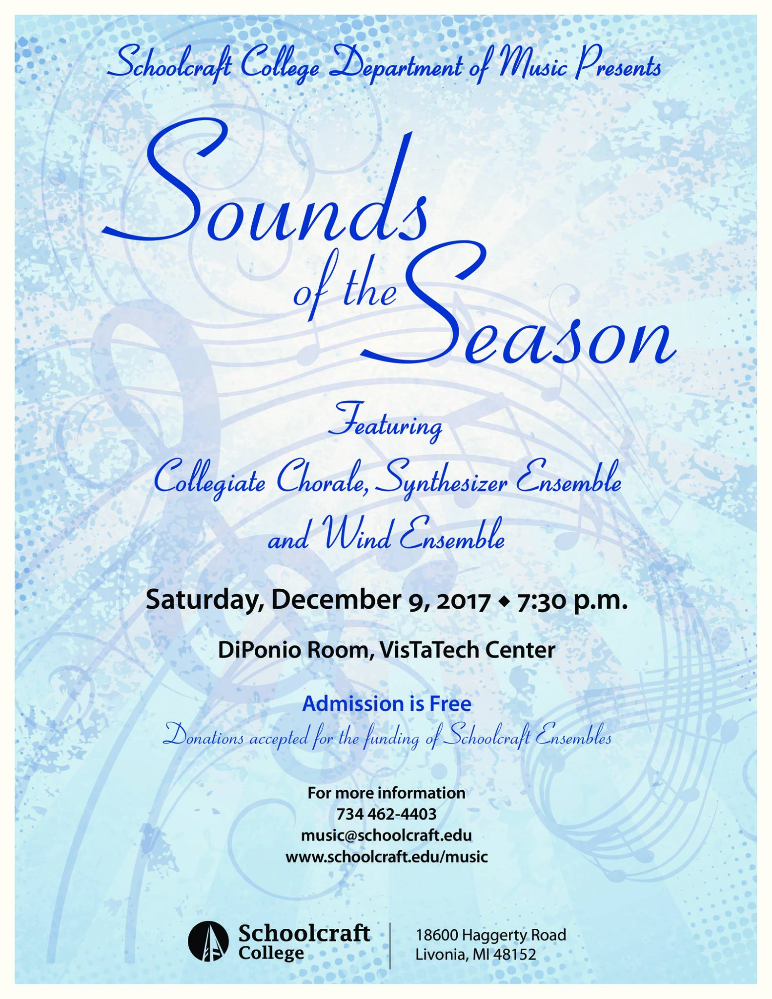 Sounds of the Season Concert flyer