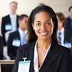 Photo of a woman entrepreneur smiling at the camera