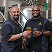 James and Dorian in Brewery
