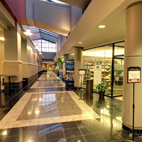 Formal hallway of the conference center