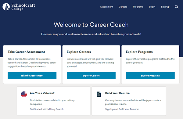 Career Coach Screen Capture