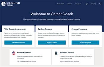 Career Coach website screen capture