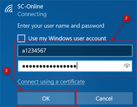 A screencap of the login screen asking for a username and password. This is step 2 and 3.
