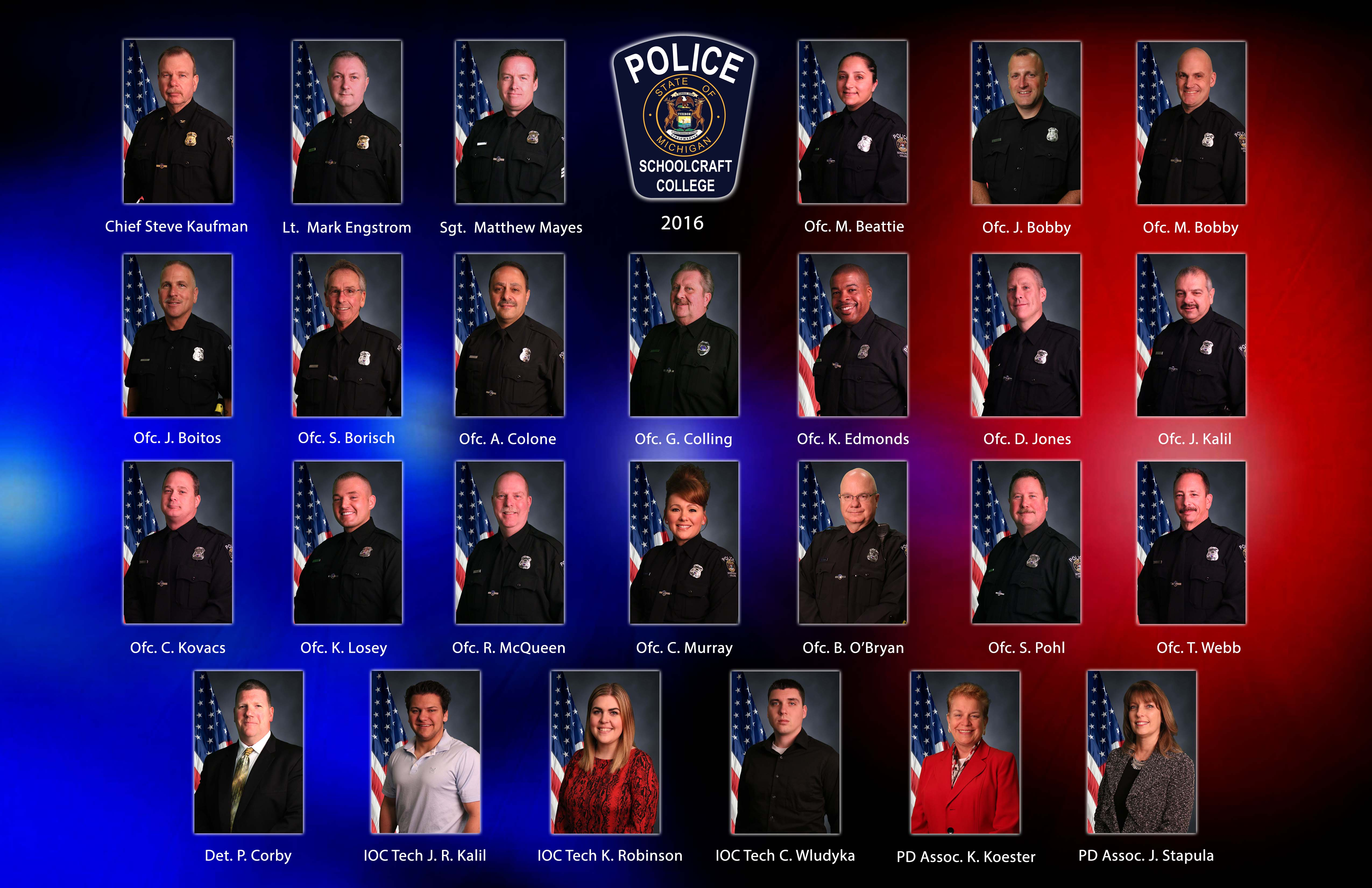 SC Police Department Staff
