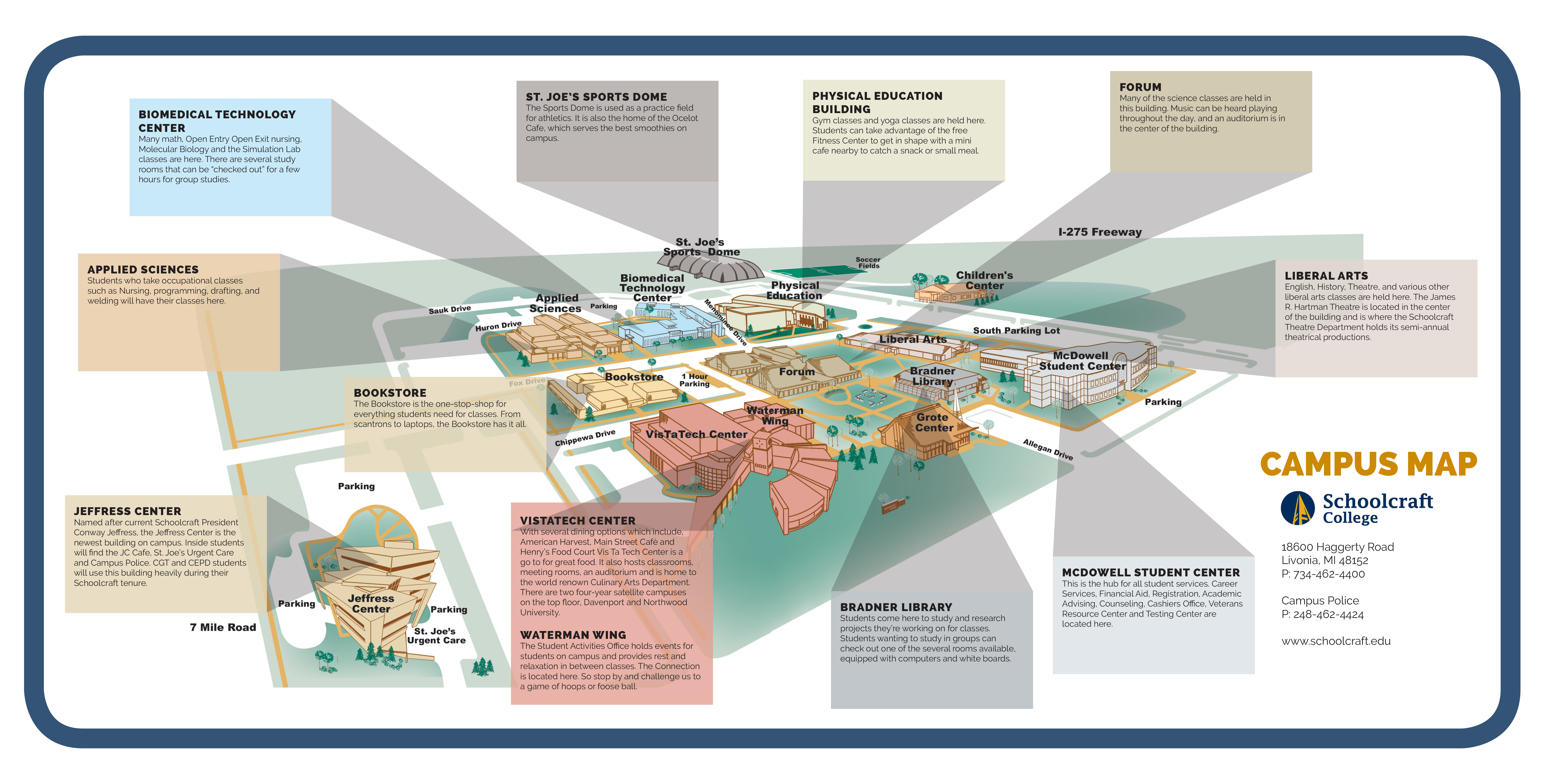 Campus Map Connection Spread_Fall 2018