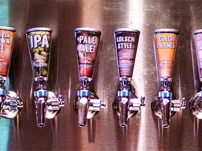 Photo of brews on tap