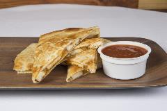JC Cafe Food: Chicken Quesadilla, seasoned Chicken with Cheddar Cheese and Salsa
