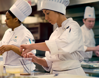Photo of chefs working in the kitchen