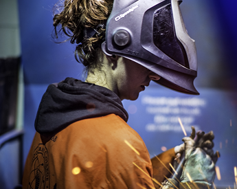 Photo of someone welding