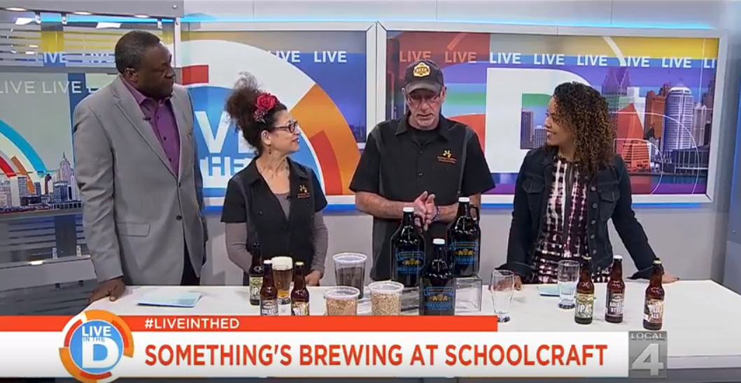 Schoolcraft College representatives talk about the Brewing and Distillation program on air Live in the D.